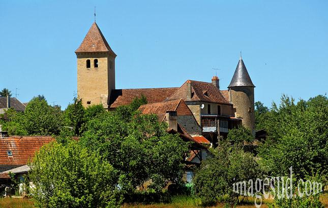 Village de Sarrazac en Dordogne