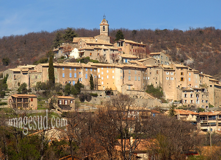 Village de France, Banon, Provence, chez Giono